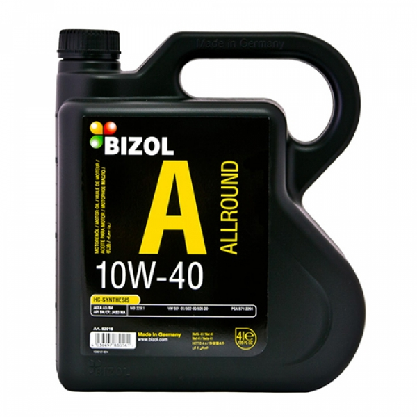 Моторное масло BIZOL Allround 10W-40 (4л)