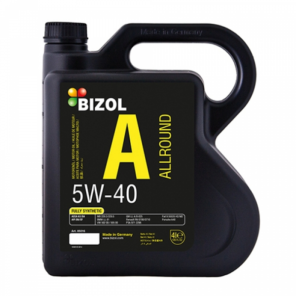 Моторное масло BIZOL Allround 5W-40 (4л)