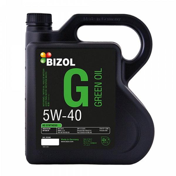 Моторное масло BIZOL Green Oil 5W-40 (4л)