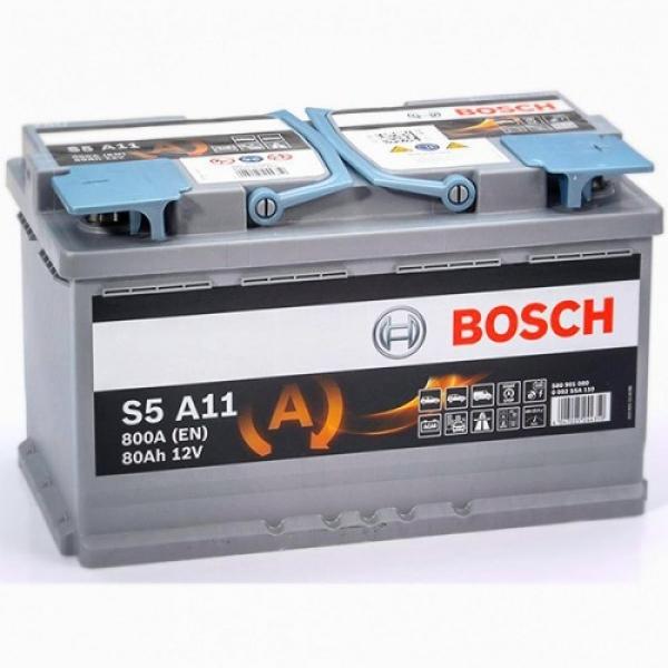 Аккумулятор Bosch 80Ah S5 A11 AGM Start Stop