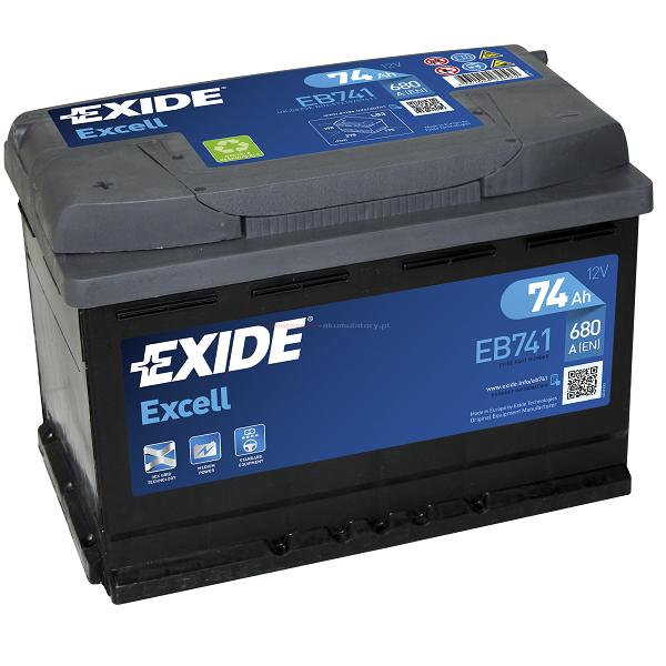 Аккумулятор Exide Excell 74 Ah (L)