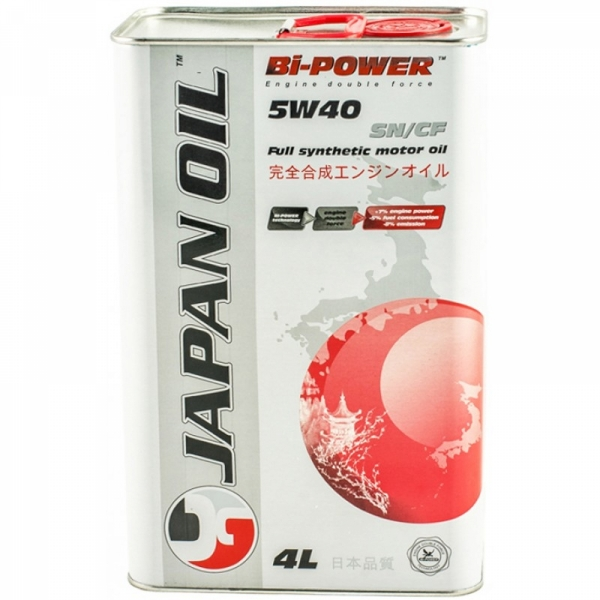 Моторное масло Japan Oil Bi-Power 5W-40 SM/CF 4л