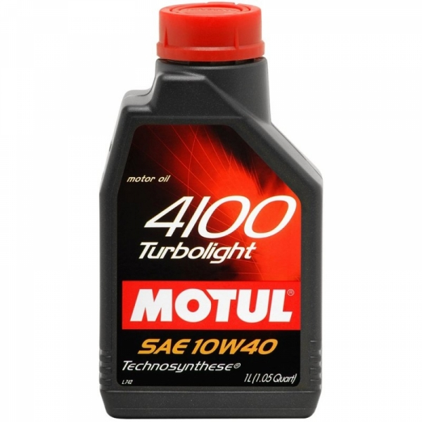 Моторное масло Motul 4100 Turbolight 10W-40 (1л)