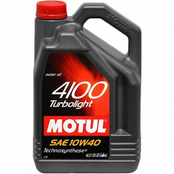 Моторное масло Motul 4100 Turbolight 10W-40 (4л)