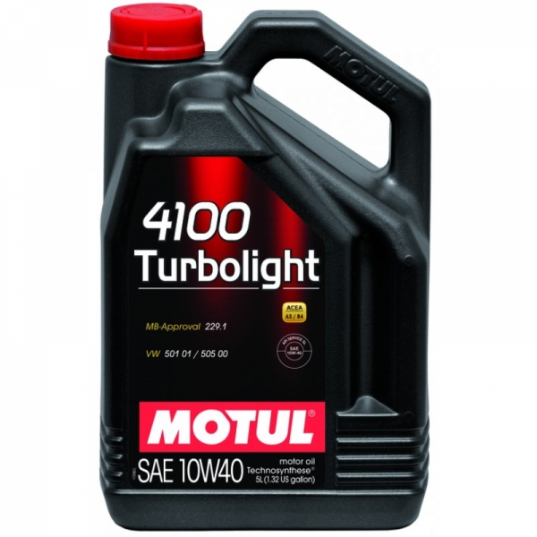 Моторное масло Motul 4100 Turbolight 10W-40 (5л)