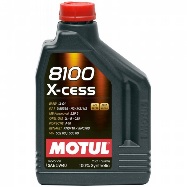 Моторное масло Motul 8100 X-cess 5W-40 (2л)