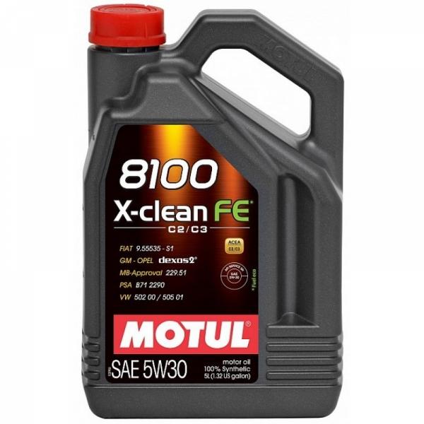 Моторное масло Motul 8100 X-clean FE 5W-30 (5л)