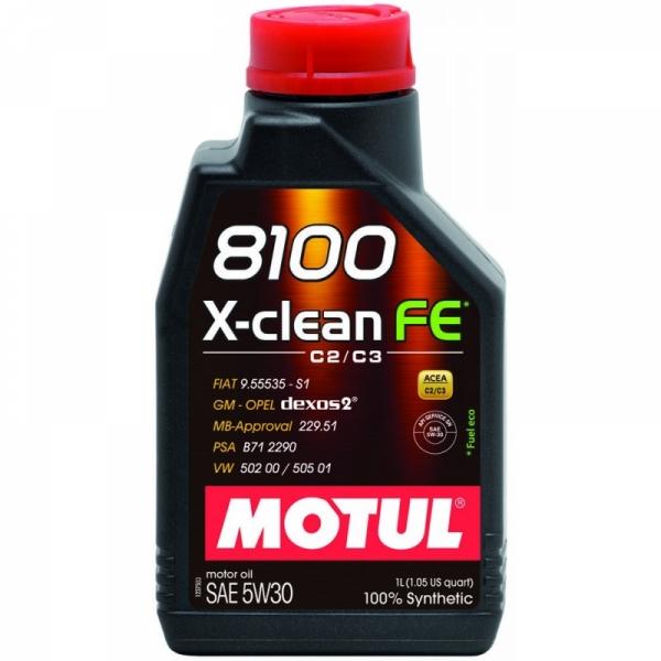 Моторное масло Motul 8100 X-clean+ 5W-30 (1л)