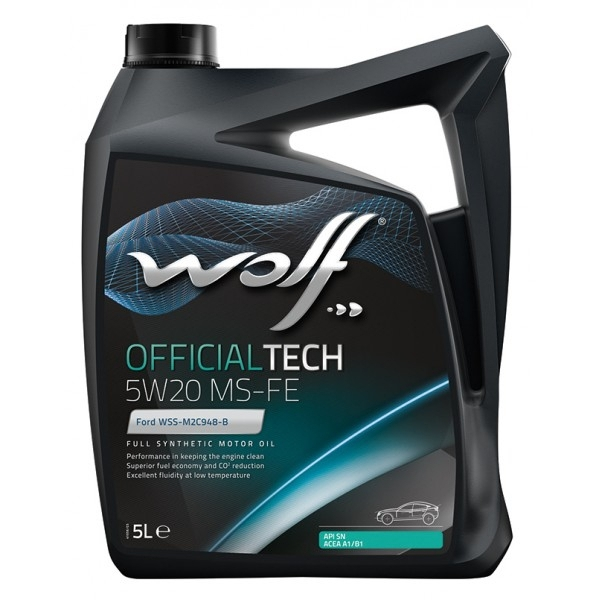 Моторное масло Wolf Officialtech 5W-20 MS-FE 5л