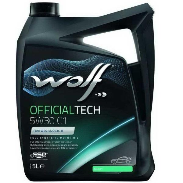 Моторное масло Wolf Officialtech 5W-30 C1 5л