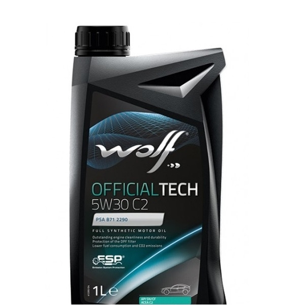 Моторное масло Wolf Officialtech 5W-30 C2 1л