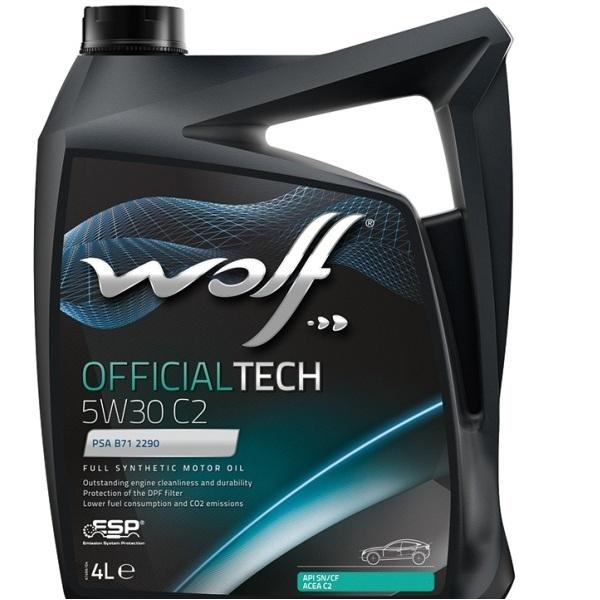 Моторное масло Wolf Officialtech 5W-30 C2 4л