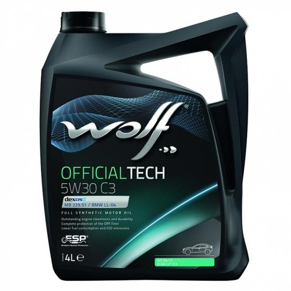 Моторное масло Wolf Officialtech 5W-30 C3 4л