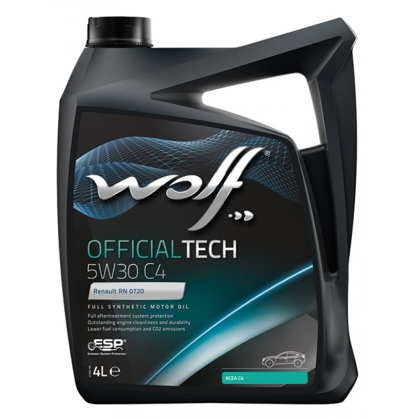 Моторное масло Wolf Officialtech 5W-30 C4 4л