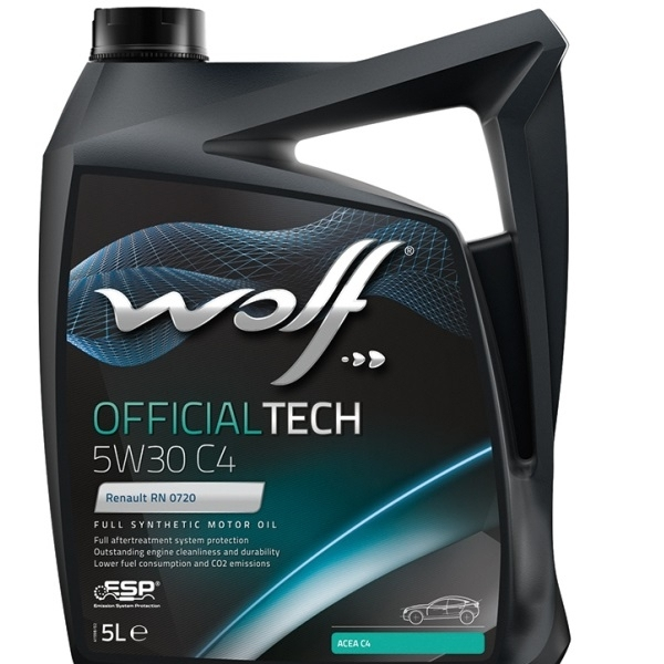 Моторное масло Wolf Officialtech 5W-30 C4 5л