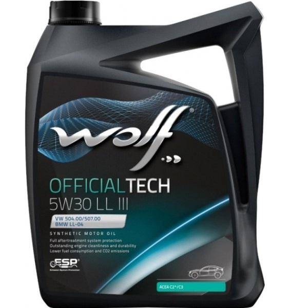 Моторное масло Wolf Officialtech 5W-30 LL 4л