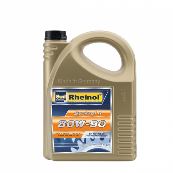 Трансмиссионное масло Swd Rheinol Synkrol 4 80W-90 4л