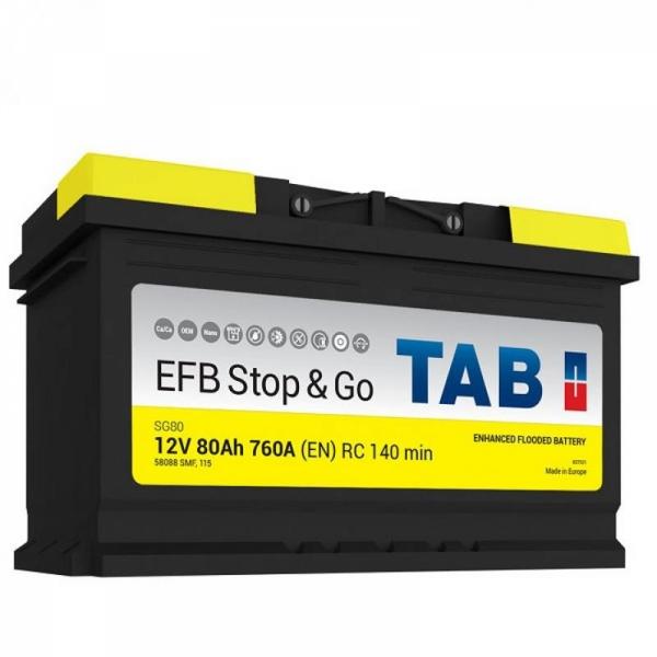 Аккумулятор Tab EFB Start Stop 80 Ah (0)