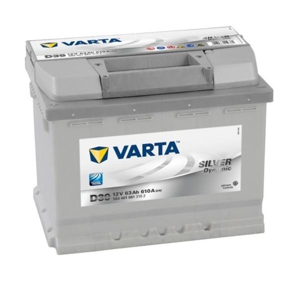 Аккумулятор Varta Silver Dynamic 63 Ah (D39)