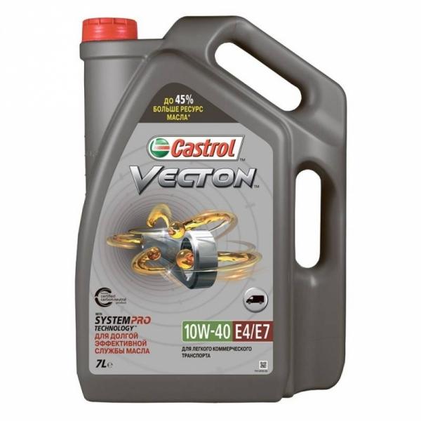 Моторное масло Castrol Vecton 10W-40 E4/E7 7л