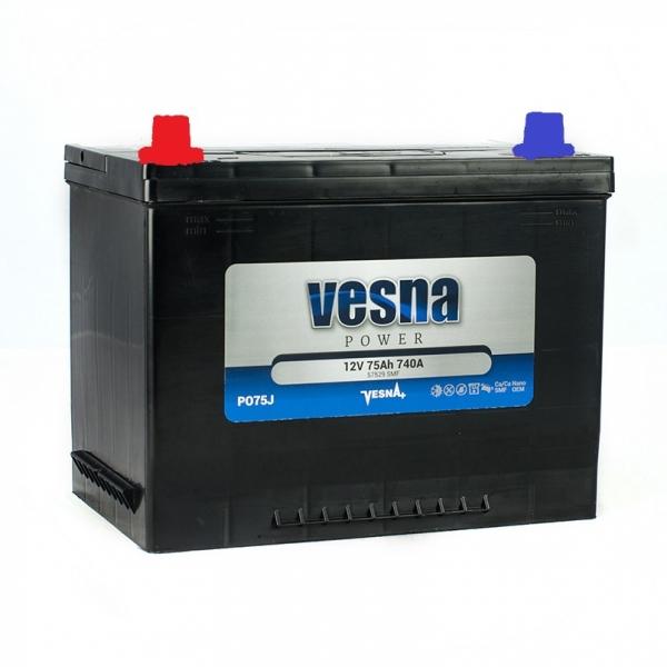 Аккумулятор Vesna Power Japan 75Ah (1)