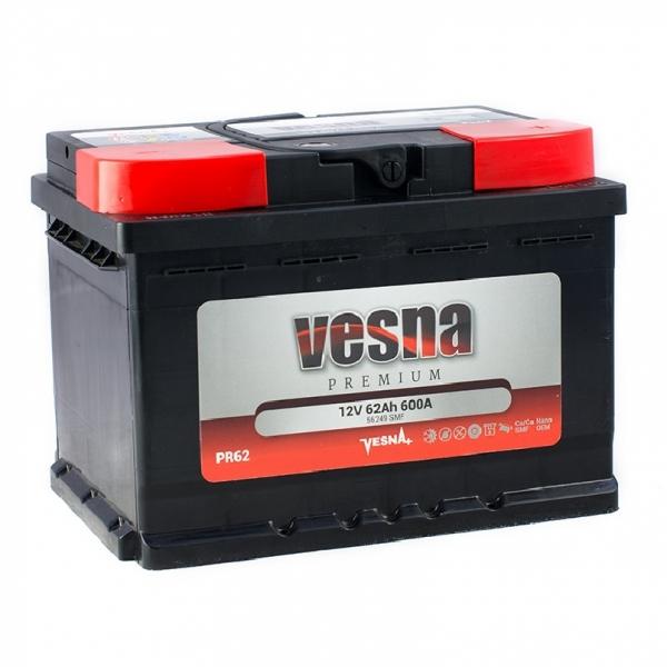 Аккумулятор Vesna Premium 62Ah (0)