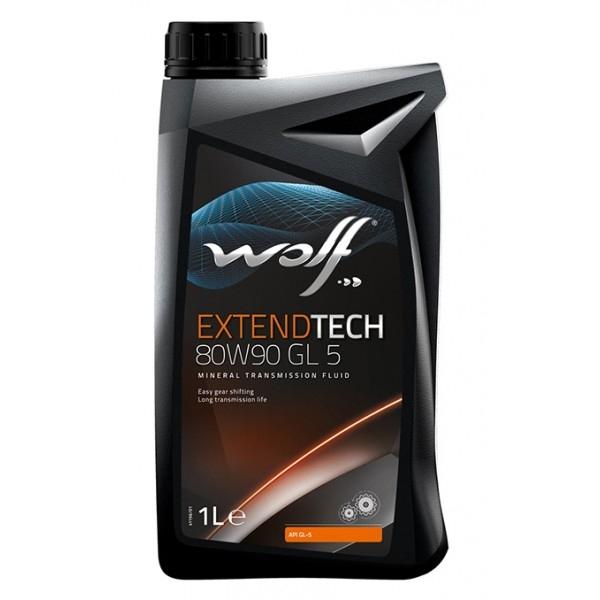 Трансмиссионное масло Wolf Extendtech 80W-90 GL-5 1л