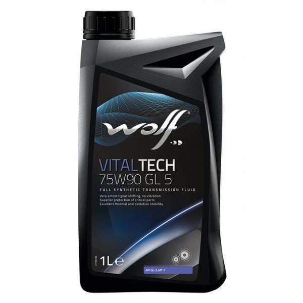 Трансмиссионное масло Wolf Vitaltech 75W-90 GL-5 1л
