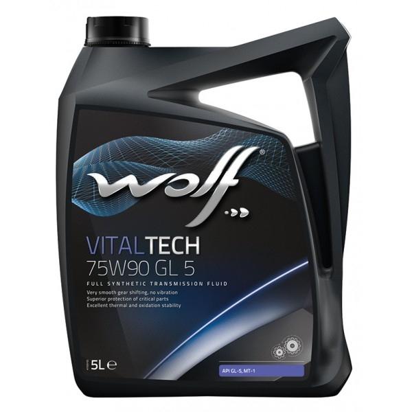 Трансмиссионное масло Wolf Vitaltech 75W-90 GL-5 5л