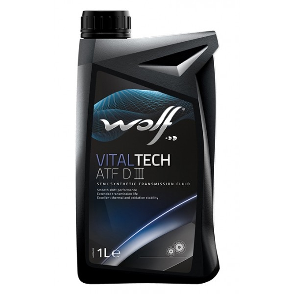 Трансмиссионное масло Wolf Vitaltech ATF D III 1л