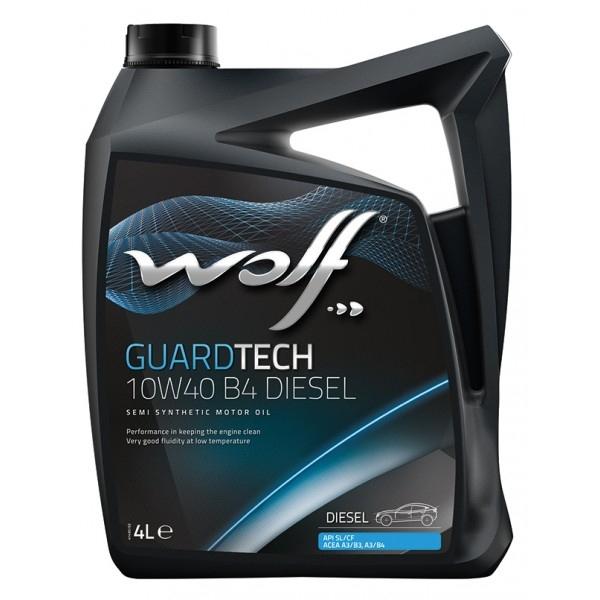 Моторное масло Wolf Guardtech 10W-40 B4 Diesel 4л