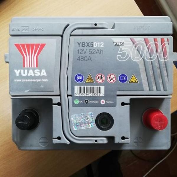 Аккумулятор Yuasa Silver High Performance 52 Ah YBX5012 (2017год, сентябрь)